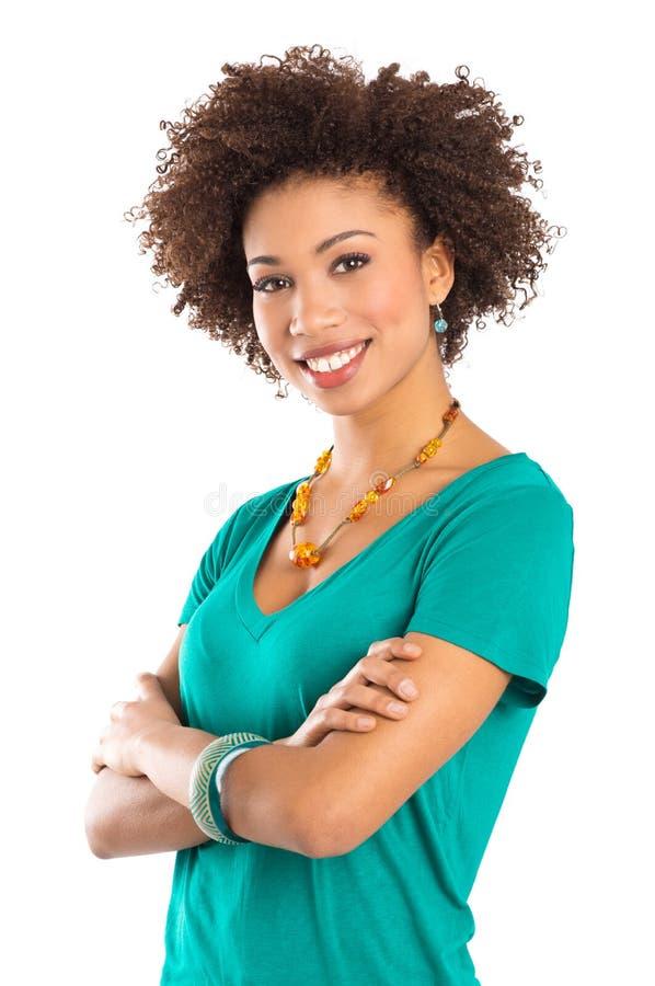 Счастливая молодая женщина стоковая фотография rf