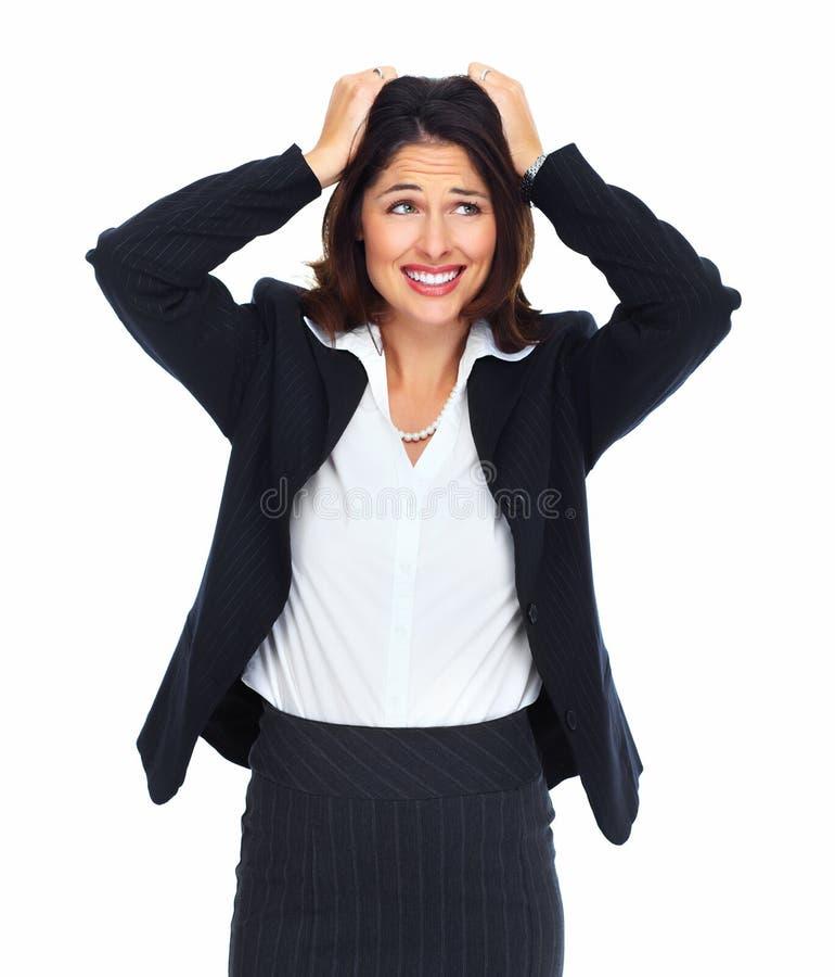 Молодая женщина имея стресс. стоковое изображение