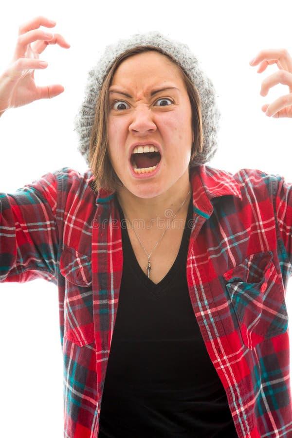 Download Молодая женщина смотря расстроенный и кричать Стоковое Изображение - изображение насчитывающей энергия, фрустрация: 41651381