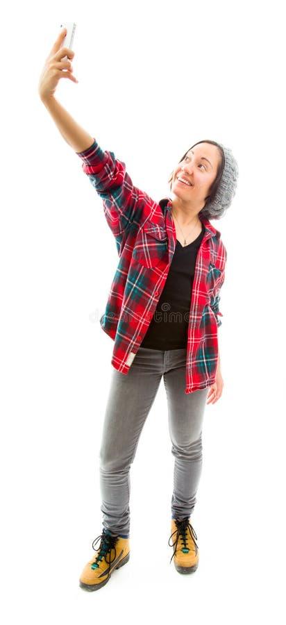 Download Молодая женщина фотографируя с A Стоковое Изображение - изображение насчитывающей памяти, жизнерадостно: 41651635