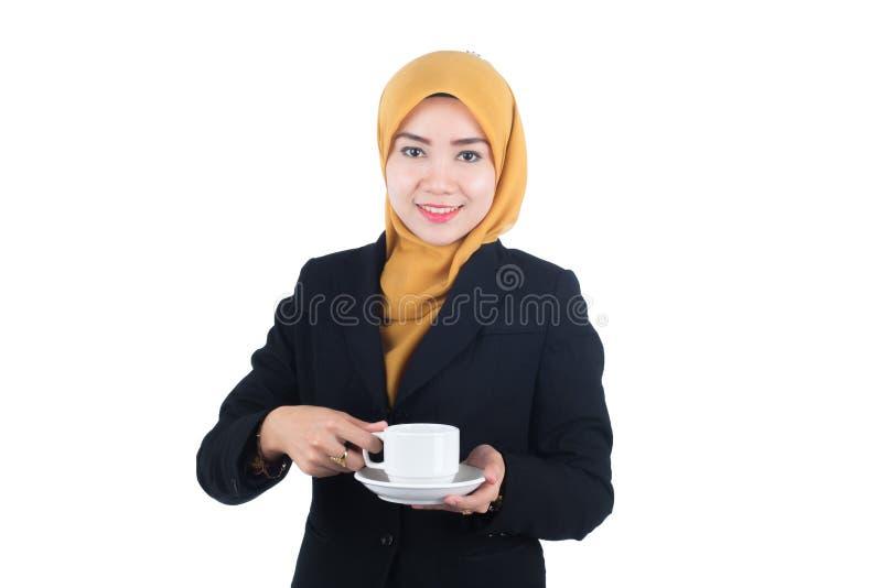 Молодая и красивая бизнес-леди Muslimah стоковая фотография rf