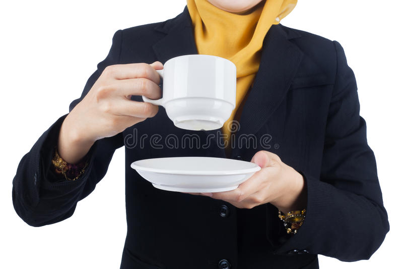 Молодая и красивая бизнес-леди Muslimah стоковая фотография