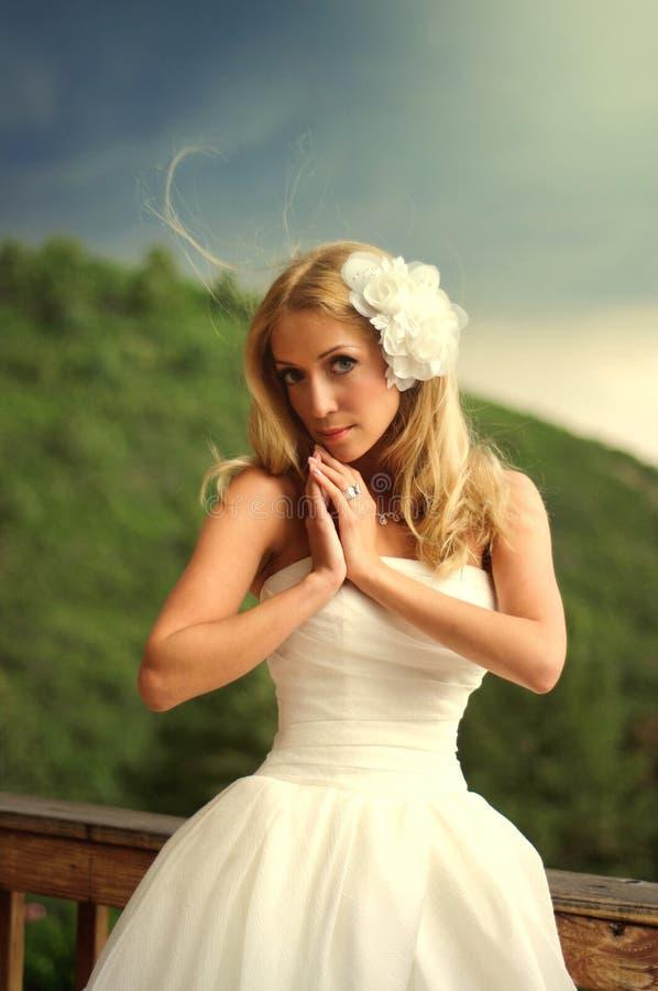 Молодая красивая невеста стоковое изображение
