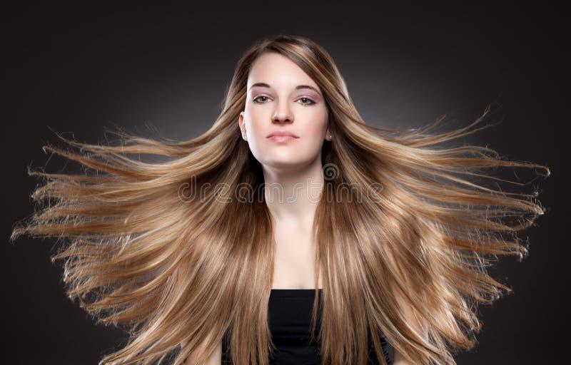 Молодая красота с длинными волосами стоковые фотографии rf