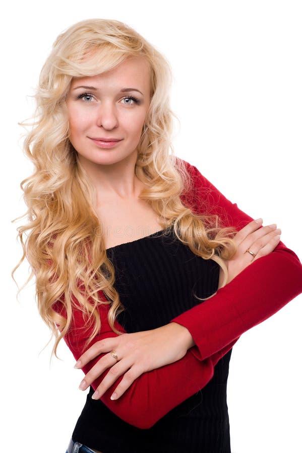 Молодая милая женщина с красивым стоковая фотография rf