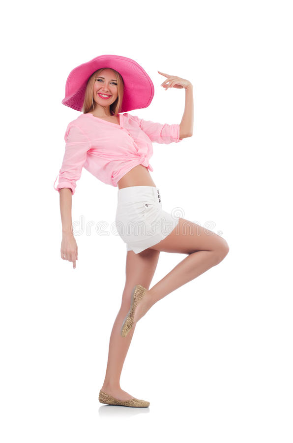 Молодая модель танцев стоковые фото