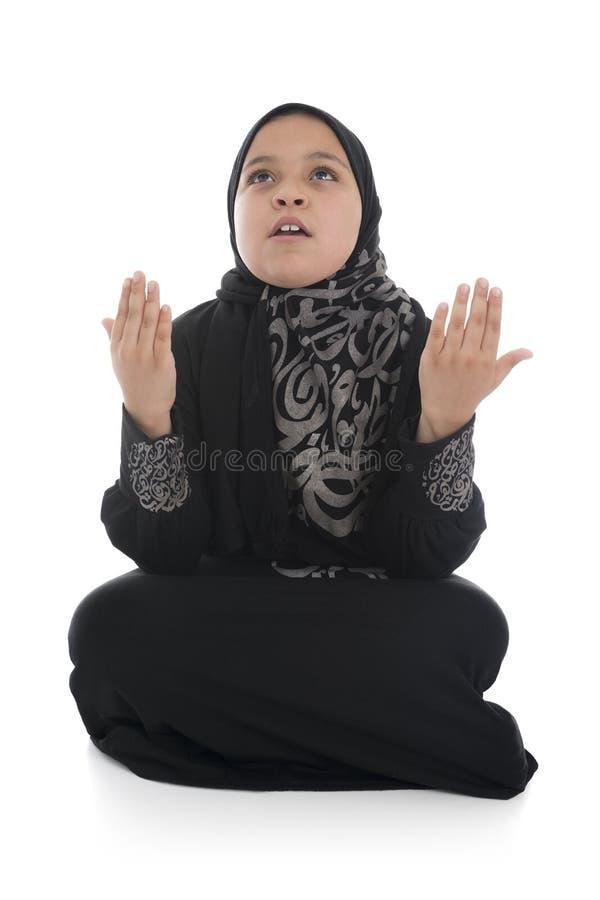 Download Молодая мусульманская девушка Duaa Стоковое Фото - изображение насчитывающей раздумье, исламско: 41662110