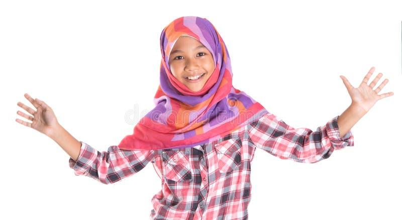 Молодая мусульманская девушка II стоковая фотография rf