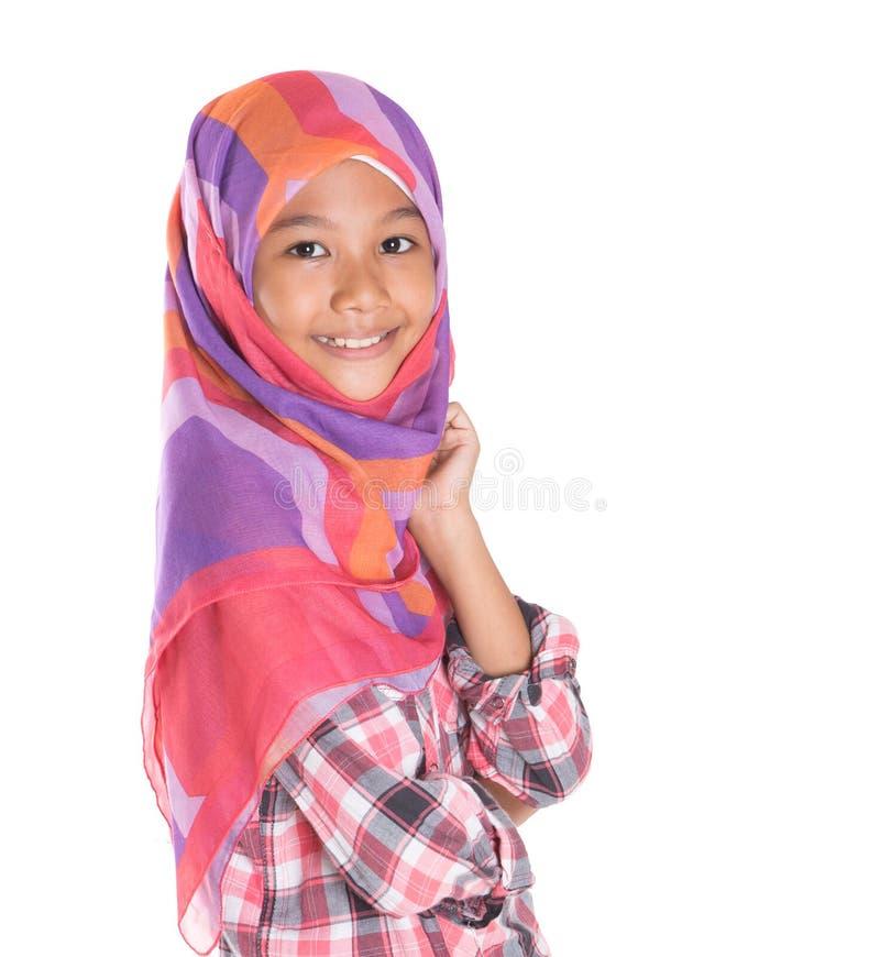 Молодая мусульманская девушка v стоковая фотография rf