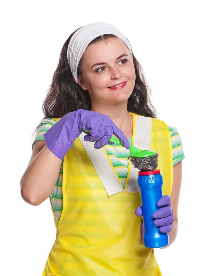 Download Молодая домохозяйка стоковое фото. изображение насчитывающей владение - 41657296