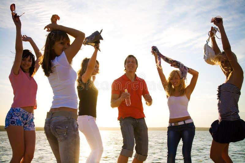 Молодая партия стоковое изображение rf