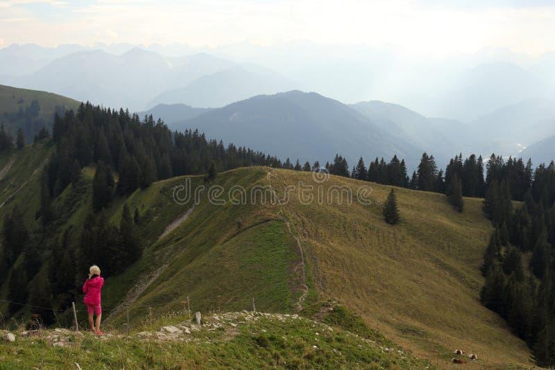 Молодая пешая девушка стоковая фотография rf