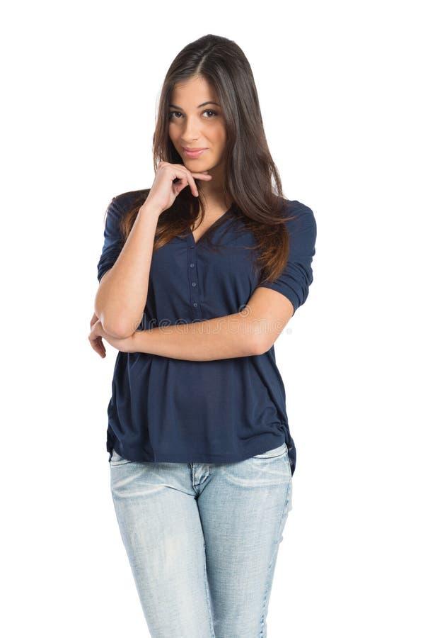 Молодая трепетная красивая женщина стоковые изображения