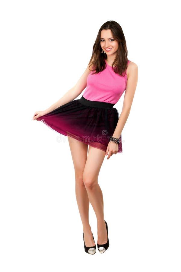 Молодая шаловливая дама стоковая фотография rf
