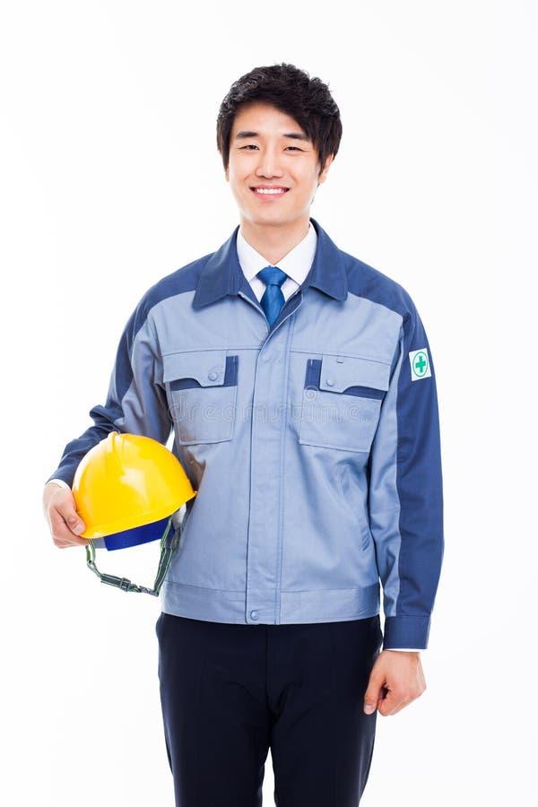 Молодой азиатский инженер. стоковое изображение rf