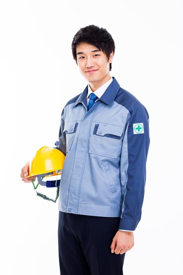 Молодой азиатский инженер. стоковое изображение