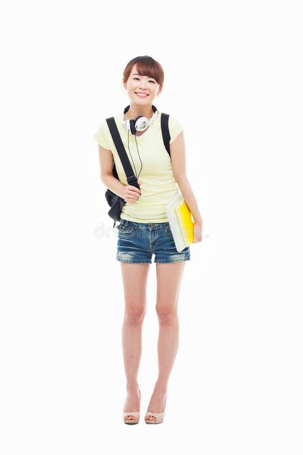 Молодой азиатский студент стоковая фотография rf