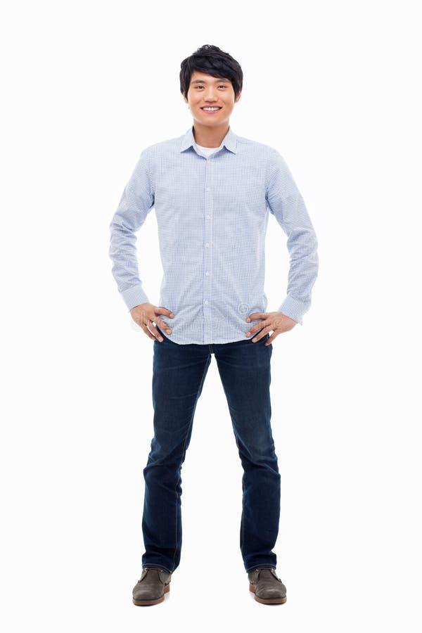 Молодой азиатский человек стоковая фотография rf