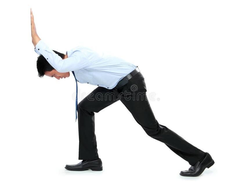 Download Молодой бизнесмен нажимая пустую доску Стоковое Фото - изображение насчитывающей пепельнообразные, бизнесмен: 37927334