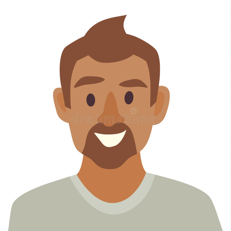 Молодой вектор значка чернокожего человека Иллюстрация значка человека Сторона значка чернокожего человека бесплатная иллюстрация