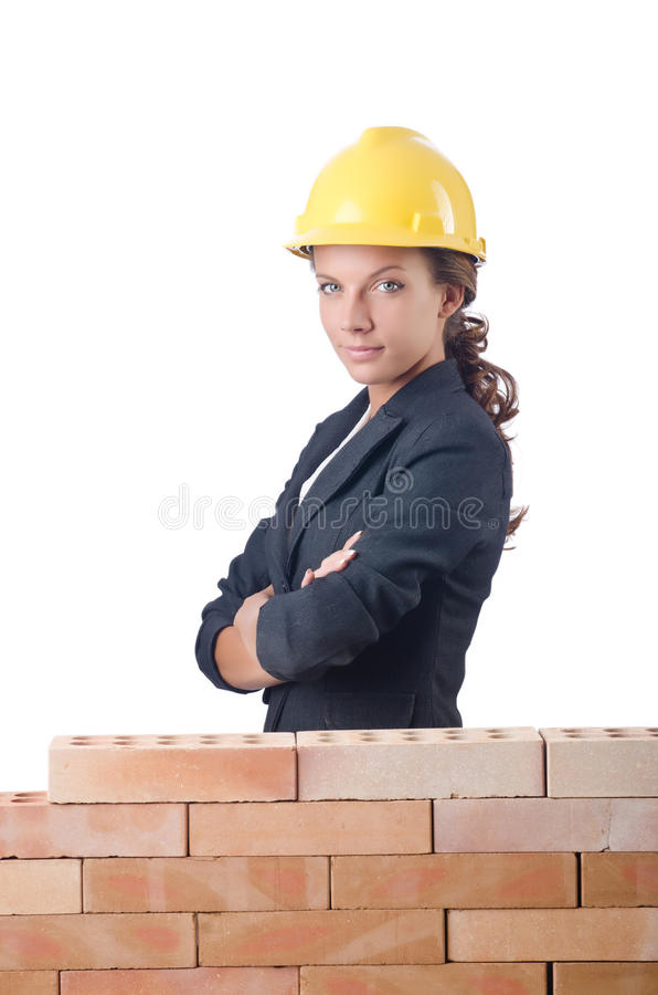 Молодой женский построитель стоковая фотография rf
