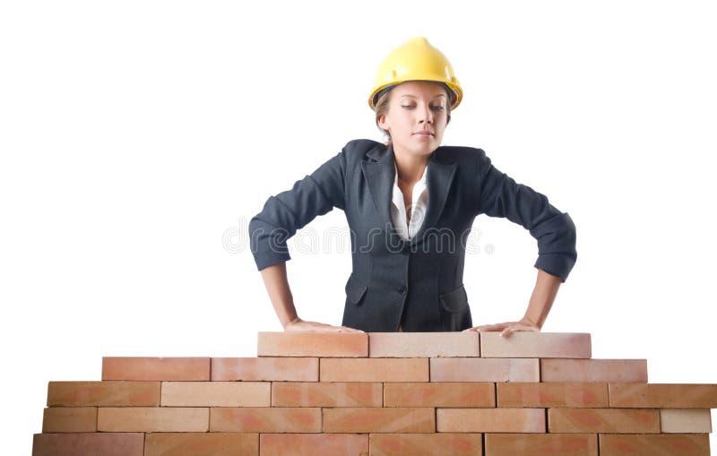 Молодой женский построитель стоковые фото