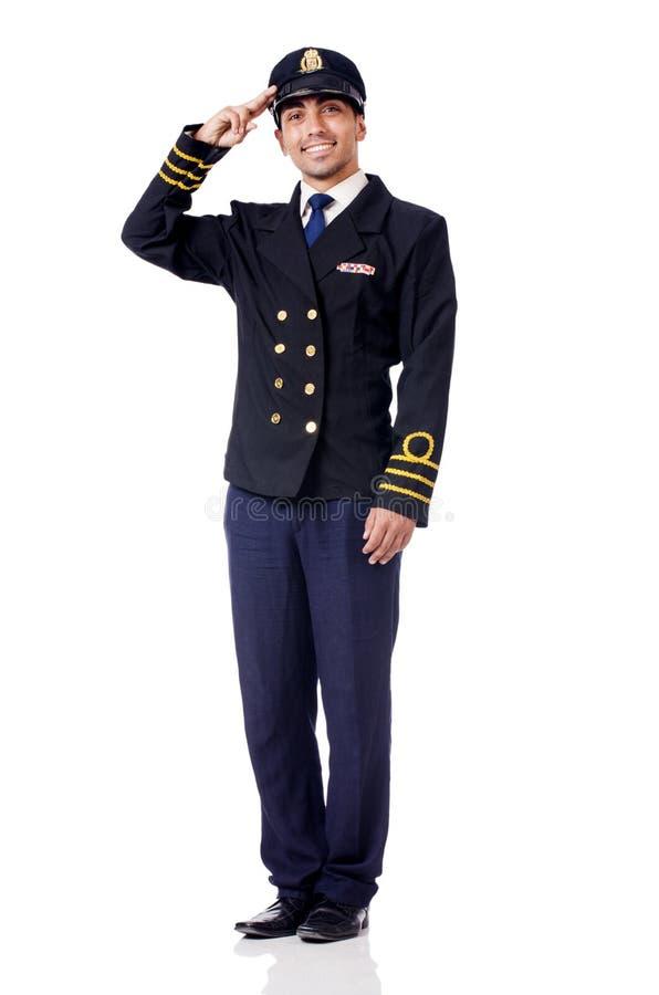 Молодой изолированный пилот стоковое изображение rf