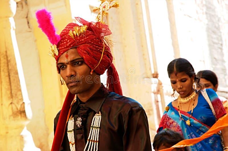 Молодой индийский groom стоковое изображение
