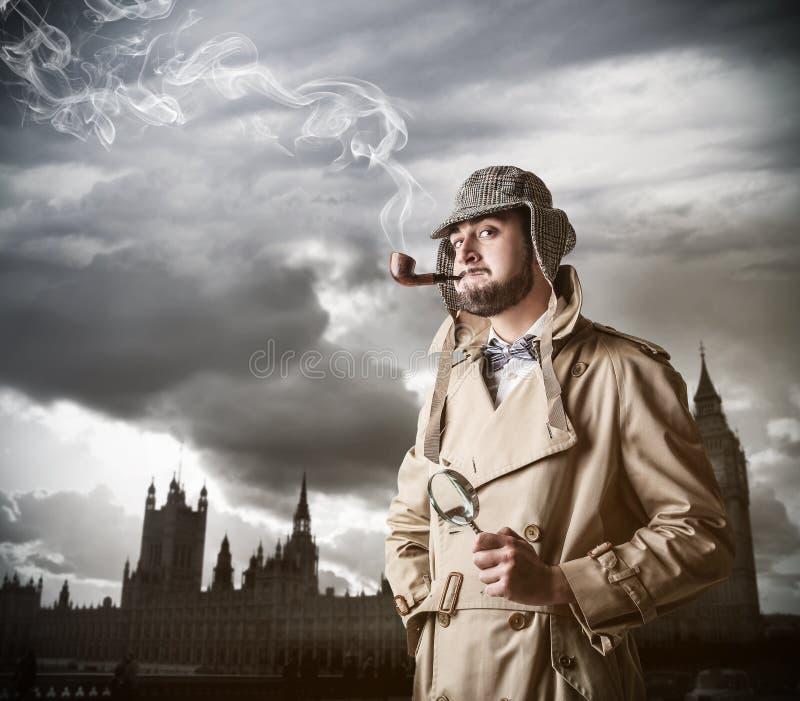 Молодой исследователь в Лондоне стоковые фотографии rf