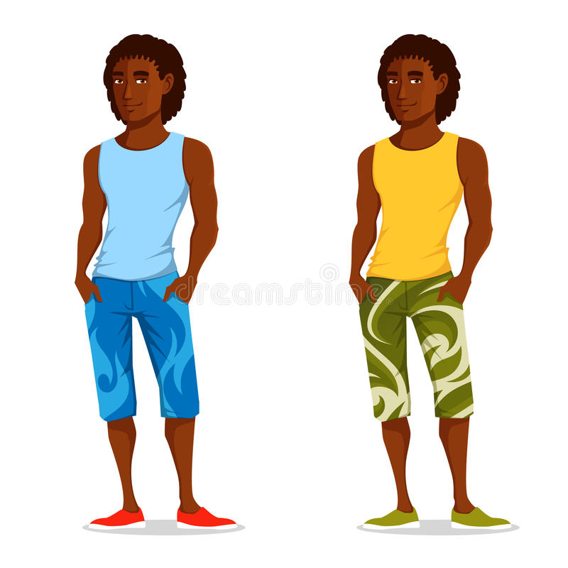 Молодой красивый парень в одеждах лета бесплатная иллюстрация