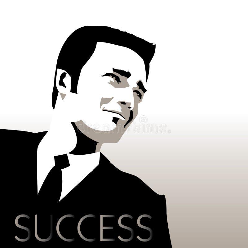 Молодой, красивый, успешный бизнесмен иллюстрация штока