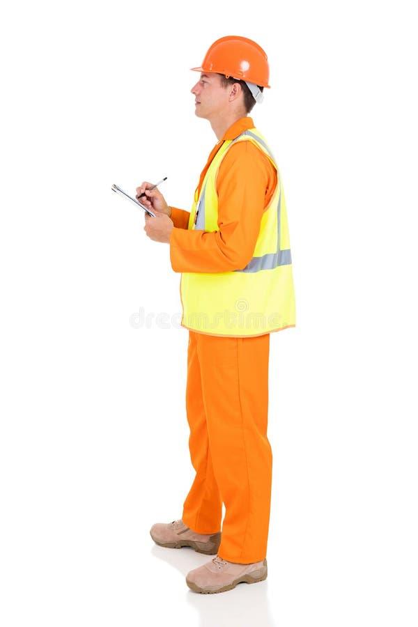 Молодой мужской электрик стоковые фото