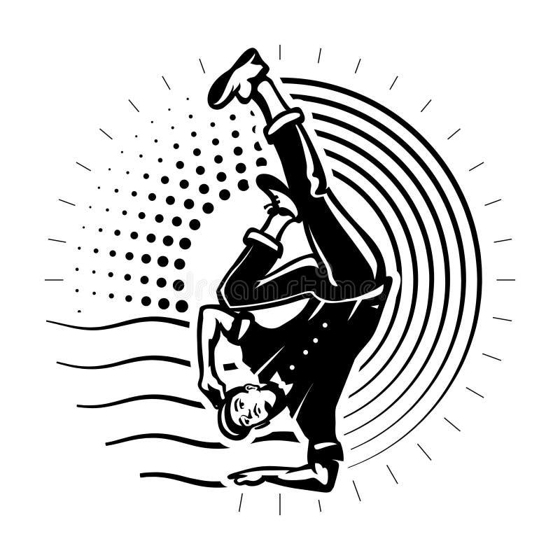 Молодой мыжской танцор иллюстрация вектора