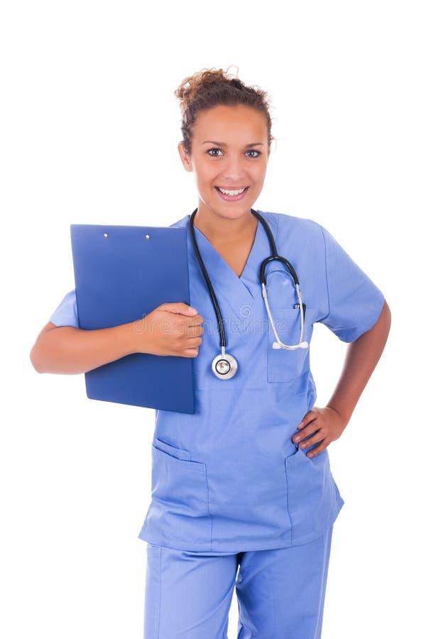 Download Молодой доктор при стетоскоп изолированный на белой предпосылке Стоковое Изображение - изображение насчитывающей bluets, профессионал: 33734985