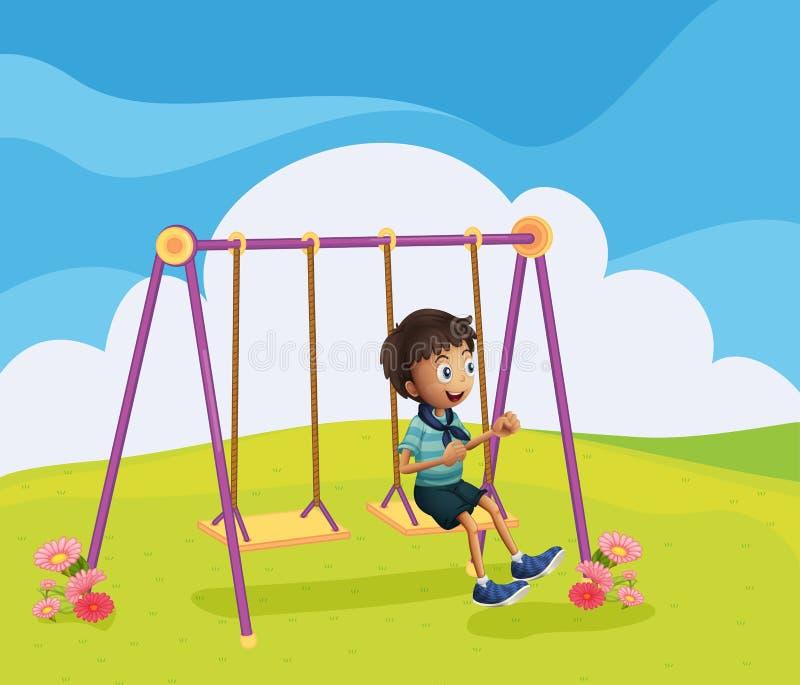 Молодой отбрасывать мальчика бесплатная иллюстрация