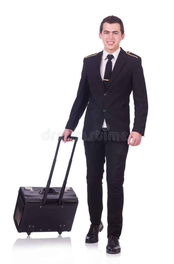 Молодой пилот стоковые фотографии rf