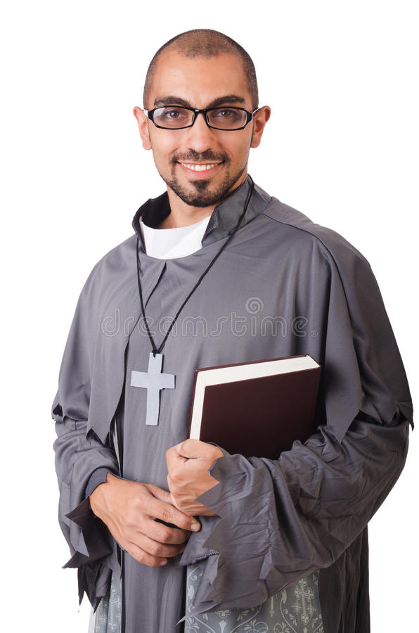 Молодой священник стоковые фото