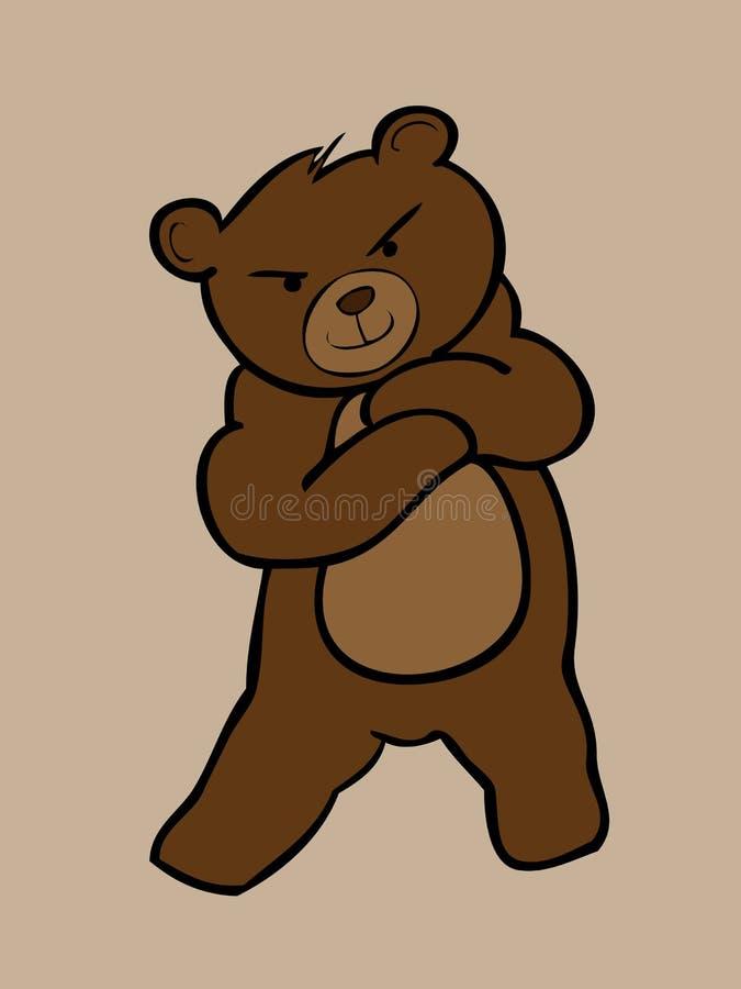 Download Молодой стоять бурого медведя Иллюстрация вектора - иллюстрации насчитывающей иллюстрация, шерсть: 40590964