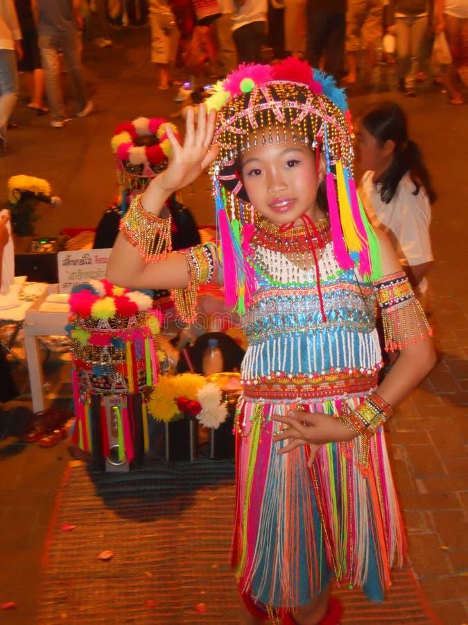 Молодой тайский танцор стоковые изображения