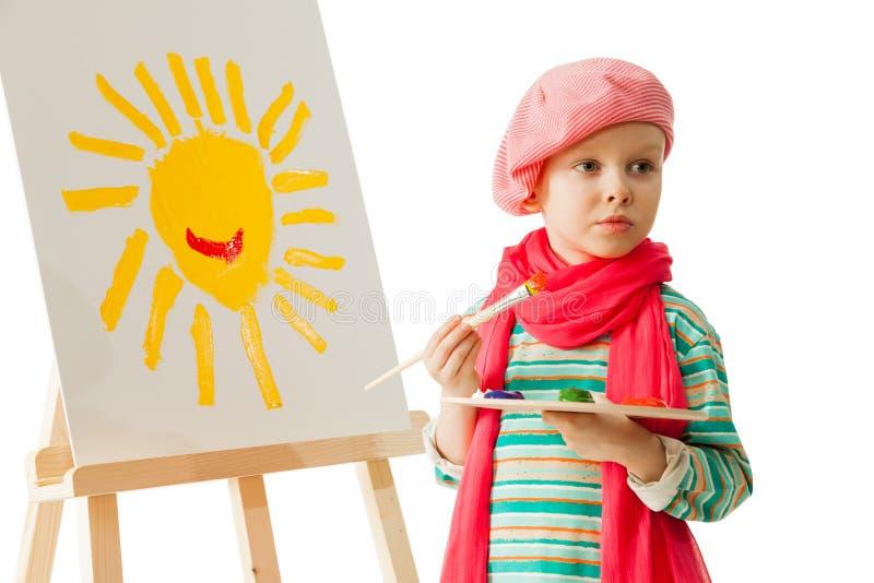 Молодой художник стоковые фотографии rf