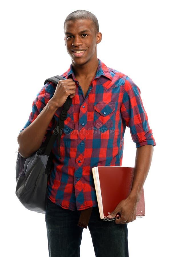 Молодой черный студент стоковая фотография rf