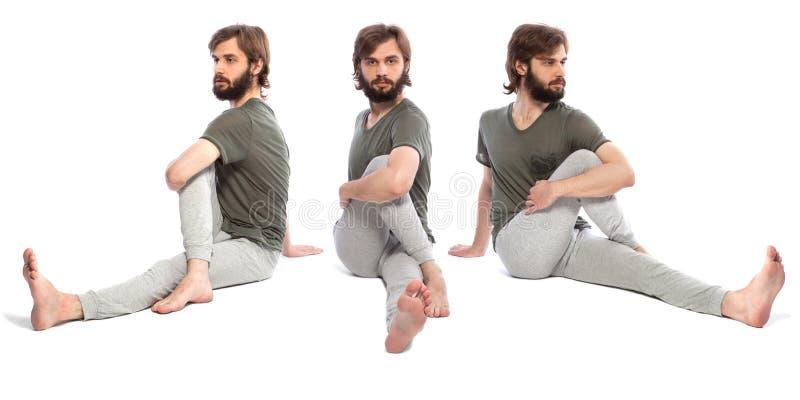 Молодой человек делая yog стоковые фото