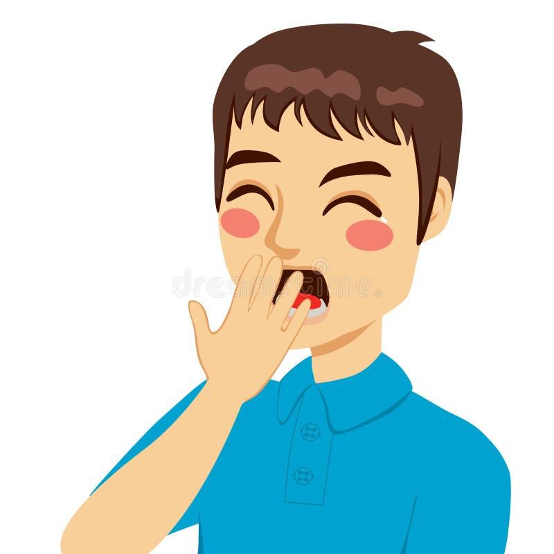 Молодой человек зевая бесплатная иллюстрация