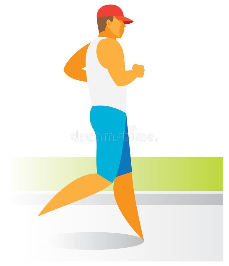 Молодой человек международное racewalker иллюстрация штока