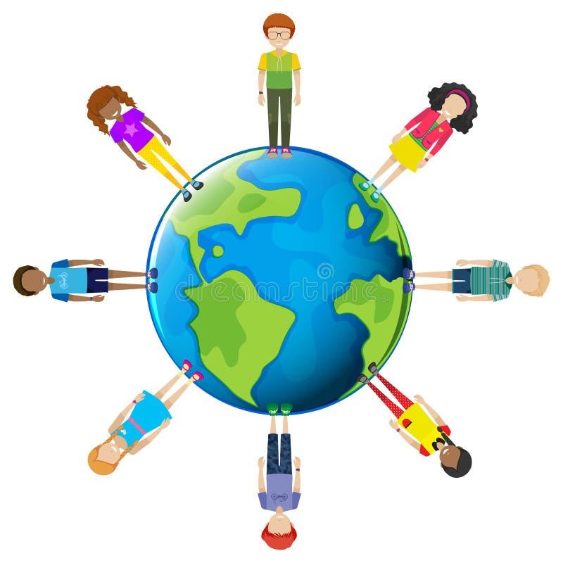 Молодости по всему миру иллюстрация вектора