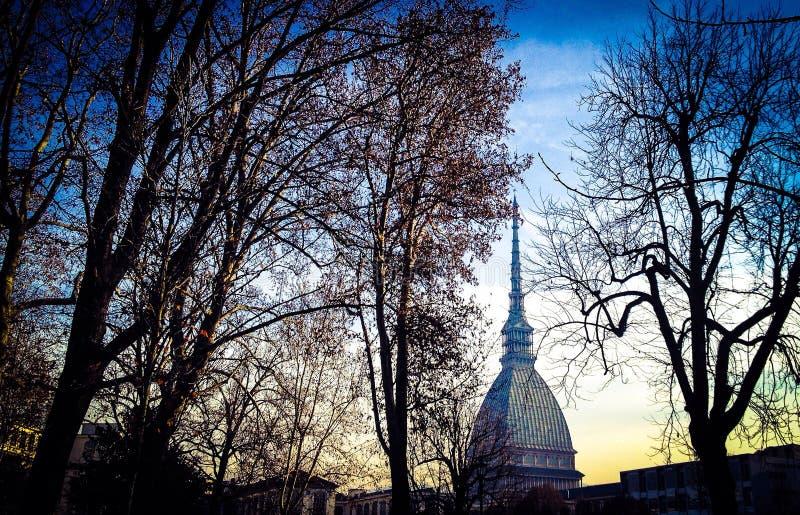 Моль Antonelliana - Турин стоковое изображение