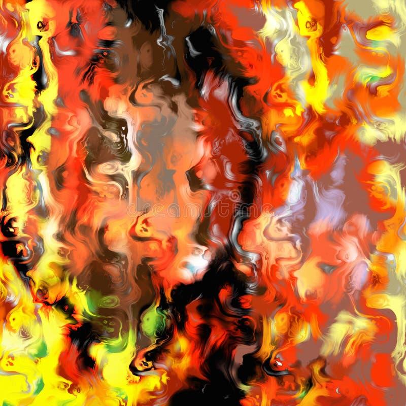 Мраморизованный конспект огня бесплатная иллюстрация