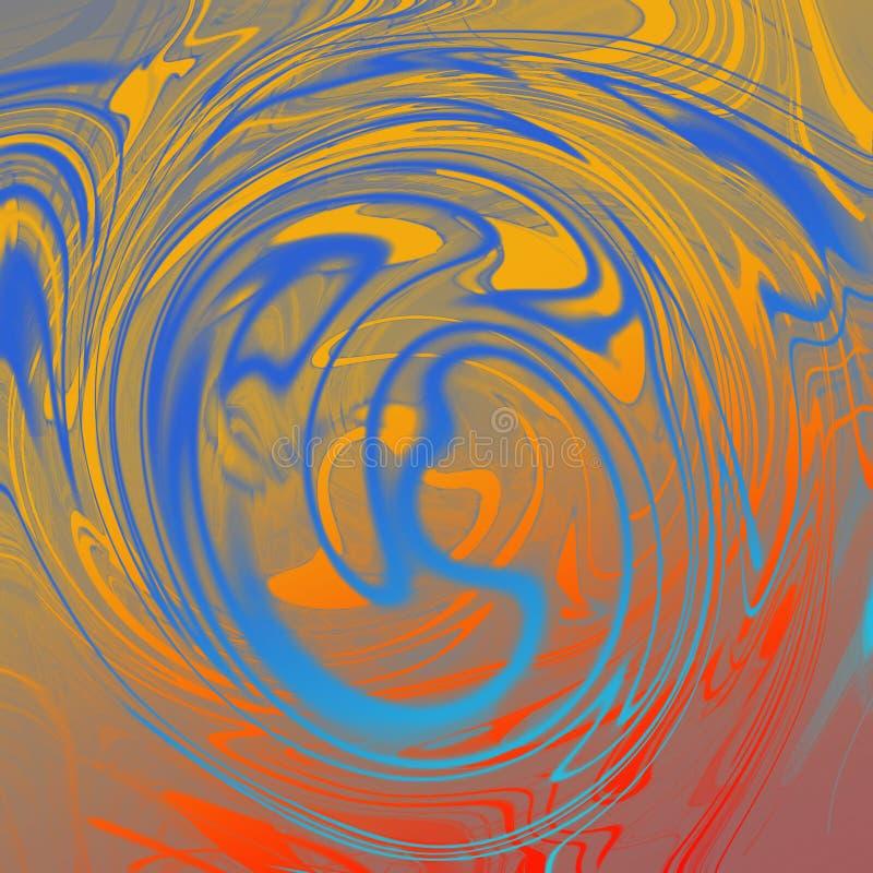 Мраморная жидкостная абстрактная предпосылка с чертами картины маслом иллюстрация вектора