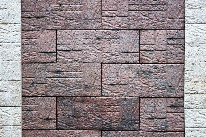 Мраморная предпосылка текстуры стены плитки камня кирпича в светлом бежевом коричневом cream цвете стоковые фото