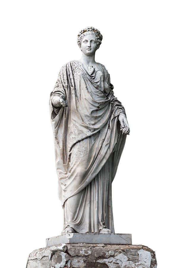Мраморная статуя римского Ceres или греческая деметра стоковые фотографии rf